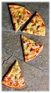 ピザ4分割